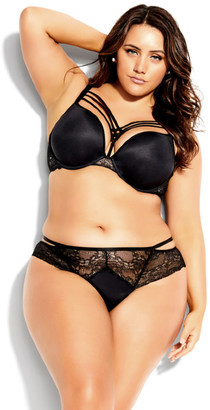City Chic Dita Strappy Push Up Bra - black