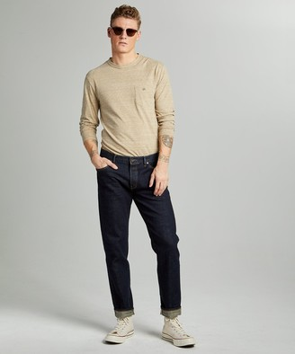 Todd Snyder Straight Fit Japanese Stretch Selvedge Jean In Indigo Rinse
