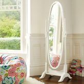 Lilac Floor Mirror, Vintage Simply White