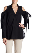 Robert Rodriguez Tie Cold Shoulder Tunic