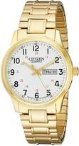 Citizen Men's BF0612-95A Quartz Watch in Gold-Tone with Easy Reader Dial