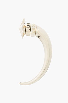 Givenchy Large Pale Gold Star Shark Earring