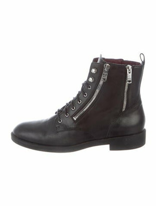 Marc by Marc Jacobs Leather Combat Boots Black