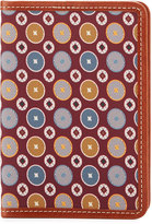 Neiman Marcus Printed Foulard Passport Holder, Red