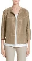 Lafayette 148 New York Women's Maureen Lambskin Leather Jacket