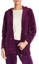 Joan Vass Hooded Velour Jacket