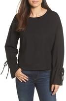 Halogen Women's Cinch Cuff Sweatshirt