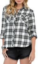 Volcom Plaid Button-Down Top