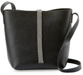 Brunello Cucinelli Monili-Tab Small Crossbody Bag, Black