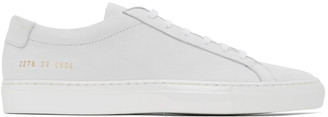 Common Projects White Nubuck Achilles Low Sneakers