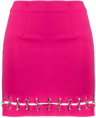 Ireneisgood Ring-Embellished Split Skirt