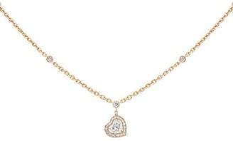Messika Joy Coeur 18K Rose Gold & Diamond Pendant Necklace