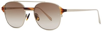 Linda Farrow Luxe Reed oval-frame sunglasses