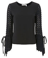 See by Chloé Flared Knit Sleeve Top