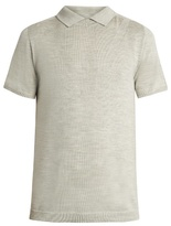 Wooyoungmi No-button wool and silk-blend polo shirt