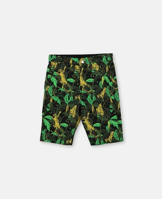 Stella Mccartney Kids Palms Cotton Shorts, Men's
