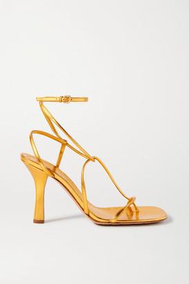 Bottega Veneta Metallic Leather Sandals - Gold