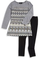 Ally B Patterned Tunic Sweater and Leggings Set