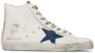 Golden Goose White and Gold Francy Sneakers
