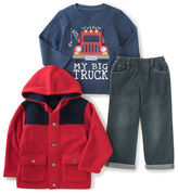 Kids Headquarters Baby Boys Three-Piece Jacket, Roundneck Tee and Pants