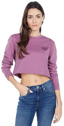Vans Blackout Long Sleeve T-Shirt (Tulipwood) Women's Clothing