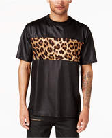 GUESS Men's Mason Leopard-Print Panel T-Shirt