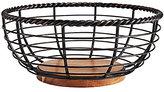 Mikasa Rope Round Wrought Iron & Wood Fruit Basket