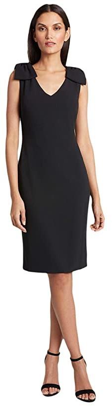 Tahari ASL Knit Day Dress (Black) Women's Dress