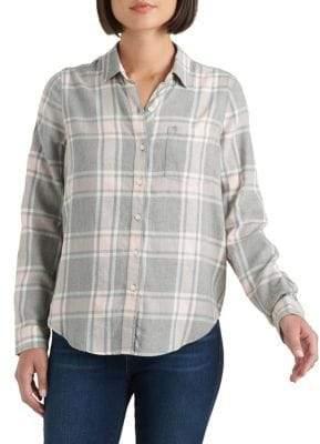Lucky Brand Plaid Cotton-Blend Shirt