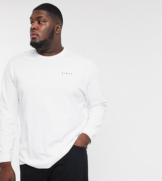 ASOS PLUS loose fit long sleeve t-shirt with logo print