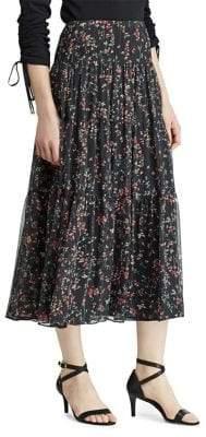 Tiered Georgette Peasant Skirt