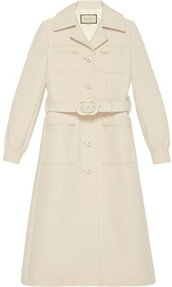 Gucci Interlocking G belted coat