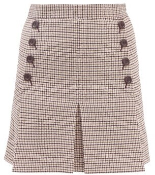 See By Chloe - Check High-rise Twill Mini Skirt - Brown Multi