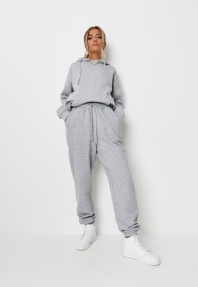 Missguided Petite Grey Marl Oversized 90S Joggers