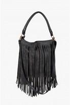 Select Fashion Fashion Womens Black Fringe Shoulder Bag - size One