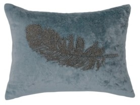 Michael Aram Feather Beaded 12 X 16 Decorative Pillow Bedding