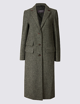 Limited Edition Wool Blend Textured Coat