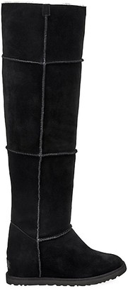 UGG Classic Femme Over-The-Knee Sheepskin-Lined Suede Boots