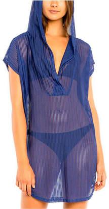 Jordan Taylor Chevron Cover Up Tunic With Hood Women Swimsuit
