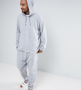 Asos Drop Crotch Joggers In Towelling With Turn Up Cuffs