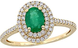 Rina Limor Fine Jewelry 14K 1.08 Ct. Tw. Diamond & Emerald Ring