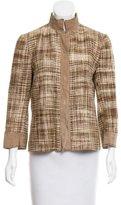 Dolce & Gabbana Silk Leather-Trimmed Jacket