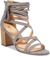 XOXO Elle Block-Heel Sandals Women's Shoes