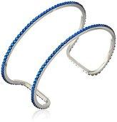 "Chamak by Priya Kakkar Swarovski Crystal Cutout Cuff Bracelet, 3"""