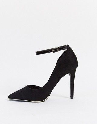 Call it SPRING exerina ankle strap court shoes in black