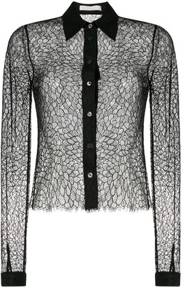 Dion Lee Sheer Lace Shirt