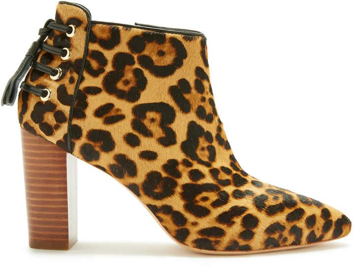 Rachel Zoe Trixie Leopard-Print Calf Hair Ankle Boots