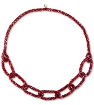 "Style&Co. Style & Co Gold-Tone Color Beaded Link 36"" Statement Necklace, Created for Macy's"