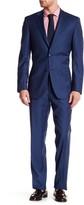 Ike Behar Positano Blue Micro-Stripe Two Button Notch Lapel Suit
