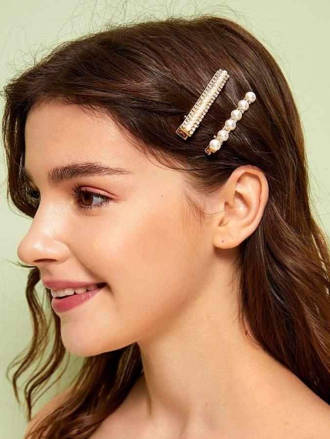 80170657ba Rhinestone Hair Clip - ShopStyle